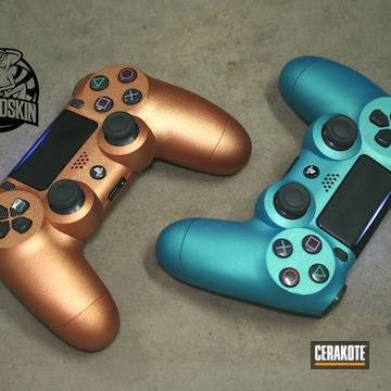 Ps4 Controls Cerakoted Using Sky Blue, Matte Armor Clear And Ruby Red
