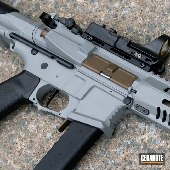 Cerakoted: S.H.O.T,9mm,AR Pistol,Graphite Black H-146,Airsoft,APR,Burnt Bronze H-148,Bull Shark Grey H-214,AR-15