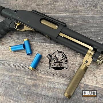 Remington 870 Shotgun Cerakoted Using Graphite Black