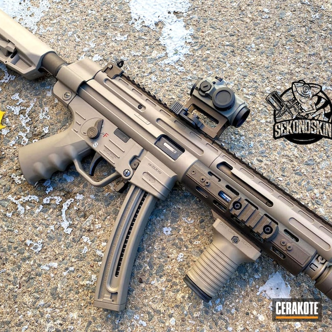 Cerakoted: S.H.O.T,MAGPUL® FLAT DARK EARTH H-267,RUBY RED H-306,Stormtrooper White H-297,GSG,Midnight Bronze H-294,22lr,MP5