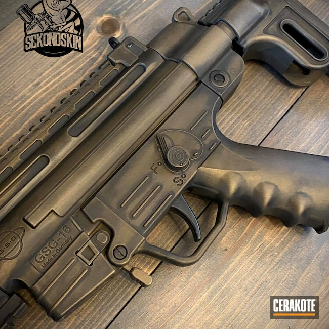 Cerakoted: S.H.O.T,Graphite Black H-146,Burnt Bronze H-148,GSG-16,GSG,22lr,MP5