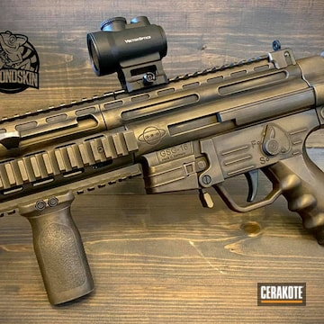 Distressed Gsg-16 Cerakoted Using Graphite Black And Burnt Bronze
