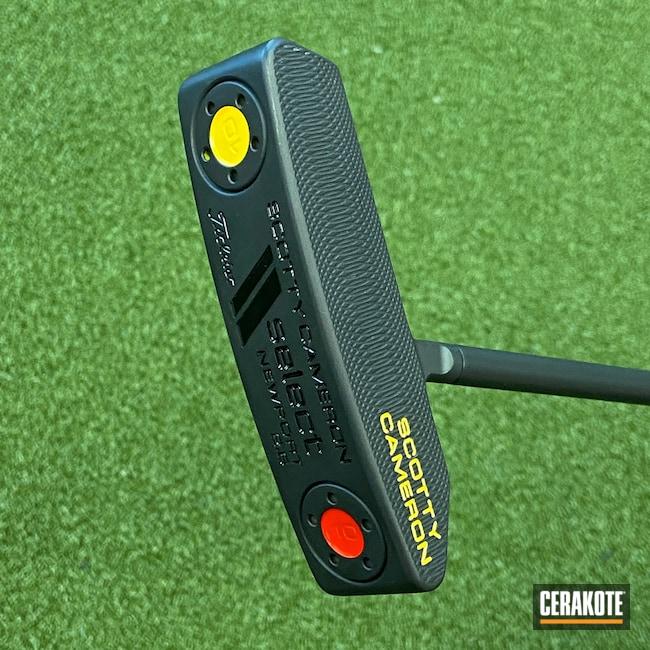 Cerakoted: Putter,Golf,Scotty Cameron,Graphite Black H-146,Golf Clubs,Select Newport 2.6