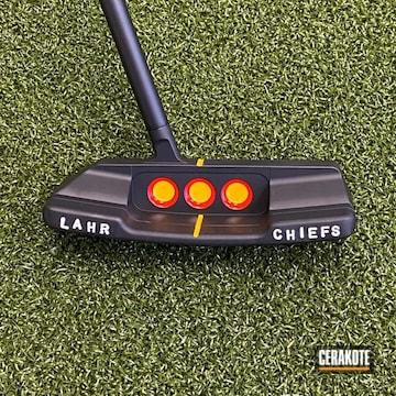 Golf Putter Cerakoted Using Graphite Black