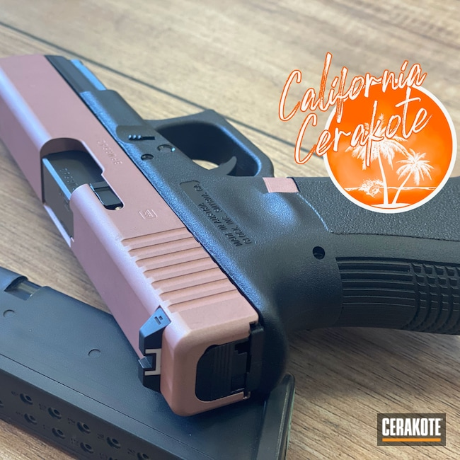Cerakoted: S.H.O.T,Glock,ROSE GOLD H-327,Christopher Miller,california cerakote