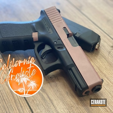 Glock 19 Pistol Cerakoted Using Rose Gold
