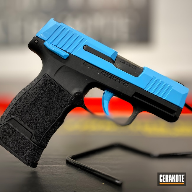 Cerakoted: S.H.O.T,9mm,p365,Girls Gun,Sig Sauer,BLUE RASPBERRY H-329,Handguns