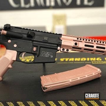 Smith & Wesson M&p Ar Cerakoted Using Rose Gold