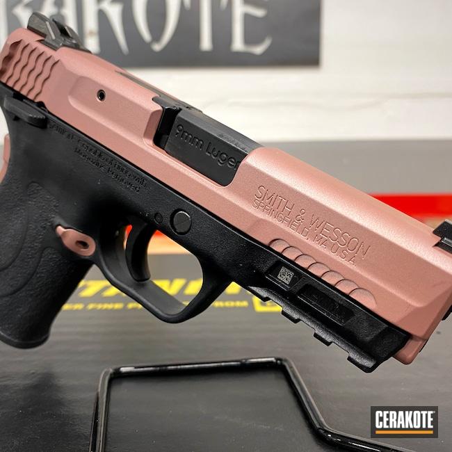 Cerakoted: S.H.O.T,9mm,9mm EZ,Smith & Wesson,Girls Gun,Pistol,ROSE GOLD H-327