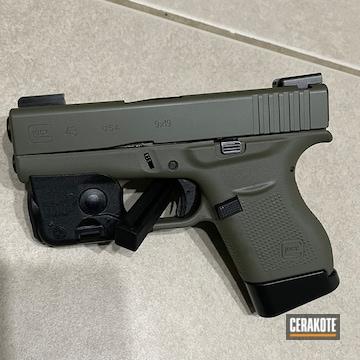 Glock 43 Pistol Cerakoted Using Moss