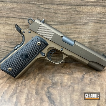 Para 1911 Pistol Cerakoted Using Midnight Bronze And Burnt Bronze