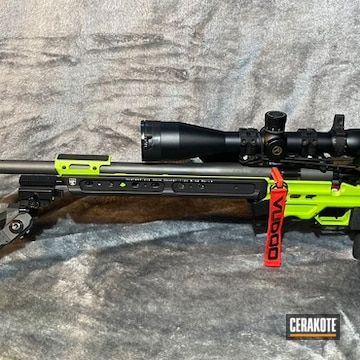 Custom Rifle Cerakoted Using Zombie Green