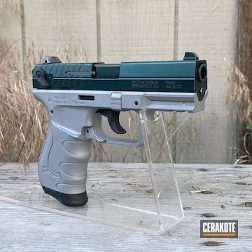 Walther Pk380 Cerakoted Using Crushed Silver And Graphite Black