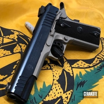Taurus Pt-1911 Cerakoted Using Titanium And Graphite Black