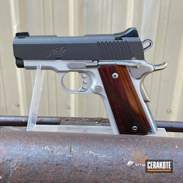 Kimber 1911 Pistol Cerakoted Using Cobalt