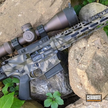 Splinter Camo Ar Build Cerakoted Using Magpul® O.d. Green, Graphite Black And Magpul® Flat Dark Earth