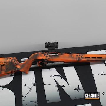 Kryptek Camo Ruger Rifle Cerakoted Using Hunter Orange And Armor Black