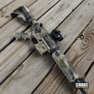 Smith & Wesson M&p15 Cerakoted Using Chocolate Brown, Benelli® Sand And Multicam® Light Green