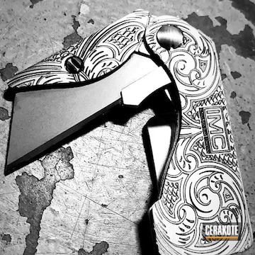 Custom Knife Cerakoted Using Matte Armor Clear
