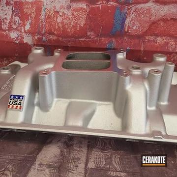 Intake Manifold Cerakoted Using Cerakote Glacier Silver