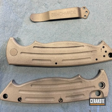 Benchmade Knife Cerakoted Using Armor Black