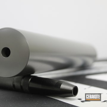Bolt Action Rifle Suppressor Cerakoted Using Concrete