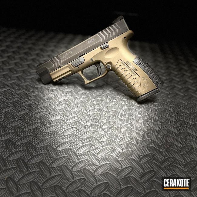 Cerakoted: 9mm,Springfield XDM,XDM-9,Graphite Black H-146,Burnt Bronze H-148,Tungsten H-237,Pistol