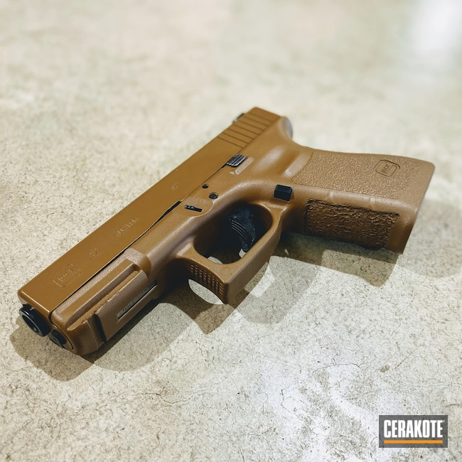 Cerakoted: Glock 32,20150 E-190,Peanut Butter,32,Peter Pan,Pistol,FDE,Glock,.357 Sig,Firearms
