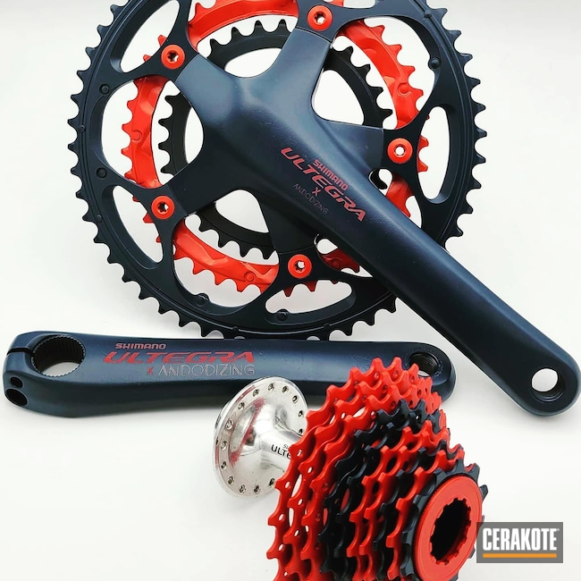 Cerakoted: Custom,BLACKOUT E-100,Cerakote,Bicycle,USMC Red H-167,Cerakote Love,Outdoors