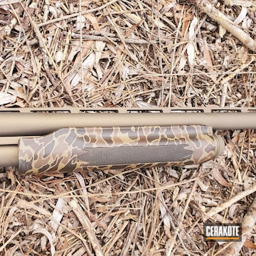 Cerakoted Shotgun In Mc-161 And H-148