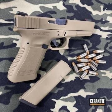 Custom Glock 17 Pistol Cerakoted Using Gen Ii Coyote Tan