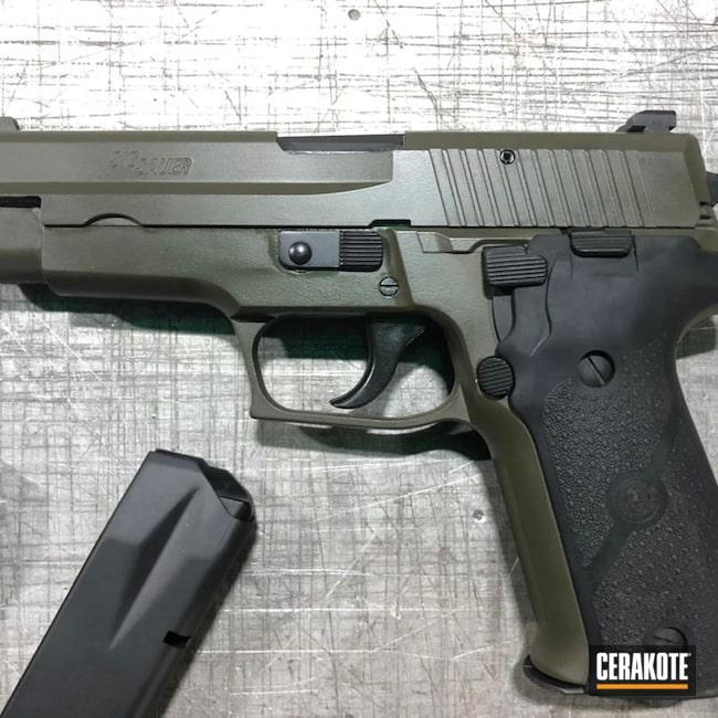 Cerakoted: S.H.O.T,Sig P226,Armor Black H-190,Pistol,Sig Sauer,O.D. Green H-236
