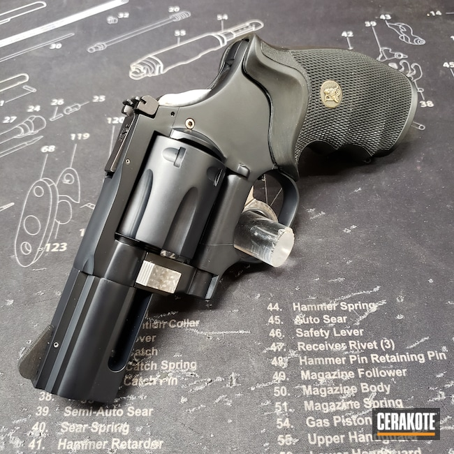 Cerakoted: S.H.O.T,.357,Midnight Blue H-238,Revolver,Dan Wesson