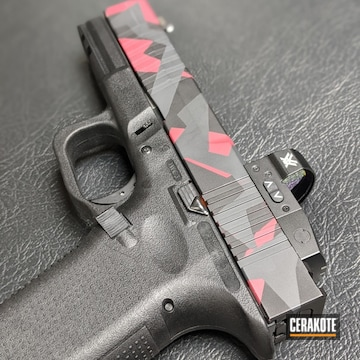 Splinter Camo Glock Cerakoted Using Springfield® Grey, Graphite Black And Sedona
