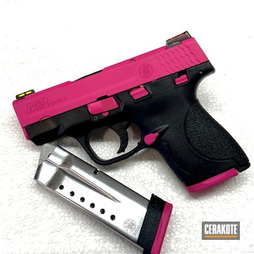 Smith & Wesson M&p Shield Cerakoted Using Sig™ Pink