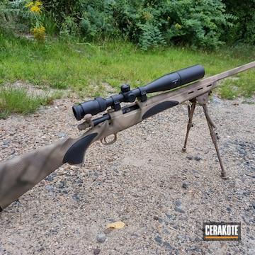 Remington 700 Cerakoted Using Desert Sand, Patriot Brown And Coyote Tan