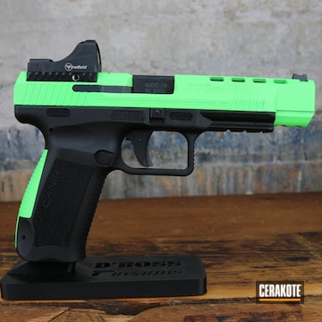 Canik Arms Pistol Cerakoted Using Parakeet Green