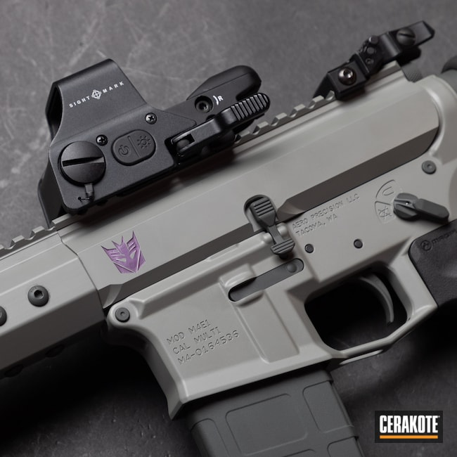 Cerakoted: S.H.O.T,m4e1,Bull Shark Grey H-214,Old School,.300 Blackout,Medford,Aero Precision,Megatron,AR Pistol,Bright Purple H-217,black flag armory,Transformers,Southern Oregon
