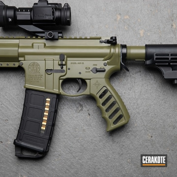 Smith & Wesson Mp15 Cerakoted Using Noveske Bazooka Green