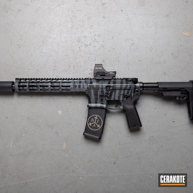 Cerakoted: S.H.O.T,5.56,Medford,Billet,Sniper Grey H-234,AR Pistol,SCO15,Graphite Black H-146,Oregon,black flag armory,Southern Oregon,SilencerCo,Custom Build