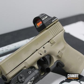 Glock 19 Cerakoted Using Mcmillan® Tan And Coyote Tan