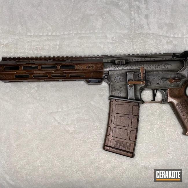 Cerakoted: S.H.O.T,APF Armory,.223,PLATINUM GREY H-337,Midnight Bronze H-294,.223 Wylde,AR-15