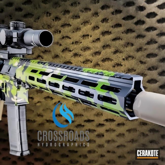 Cerakoted: S.H.O.T,Rifle,Graphite Black H-146,Desert Sand H-199,Zombie Green H-168,Z15,IWI,AR Rifle