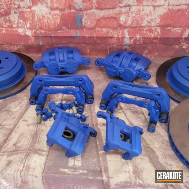 Cerakoted: Honda Truck,Brake Calipers,Automotive Parts,BLUE FLAME C-158,Brake Parts,Automotive,Calipers