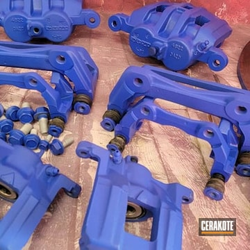 Brake Calipers Cerakoted Using Blue Flame