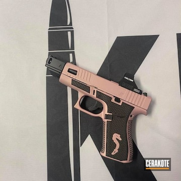 Glock 43x Pistol Cerakoted Using Pink Champagne
