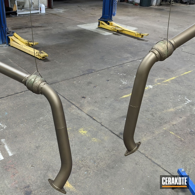 Cerakoted: Custom,Exhaust,Pipes,Burnt Bronze C-148,Automotive,Exhaust Pipes