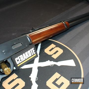 Lever Action Rifle Cerakoted Using Graphite Black