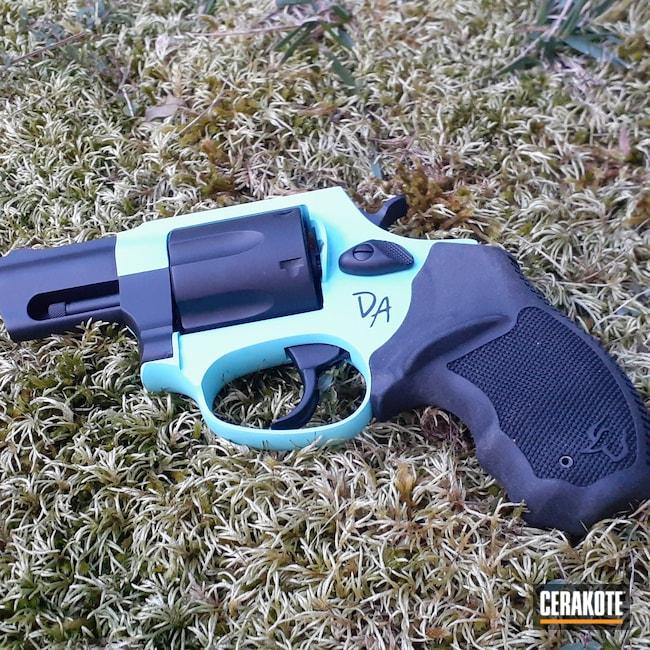 Cerakoted: S.H.O.T,.357,Taurus Revolver,Robin's Egg Blue H-175,Graphite Black H-146,JH Ink,Tattoo,Montwvallo, AL