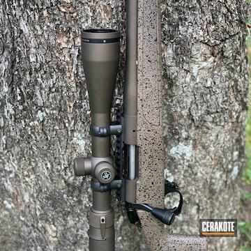 Remington 700 Barrel Cerakoted Using Midnight Bronze